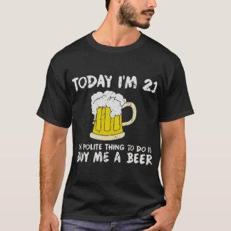 Vandaag ben ik 21 koop me een Bier Beleefde T Shirt