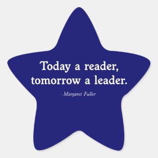 Vandaag een Lezer, morgen een Leider Ster Sticker