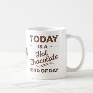 Vandaag is een Heet Soort van de Chocolade de Koffiemok