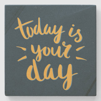 Vandaag is uw dag! - De inspirerend Onderzetters Stenen Onderzetter