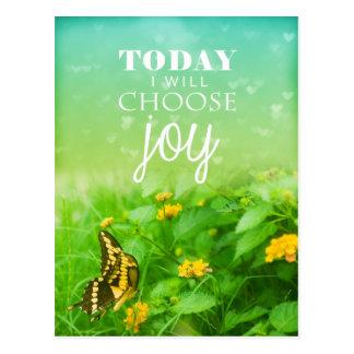 Vandaag kies ik Vreugde Wens Kaart
