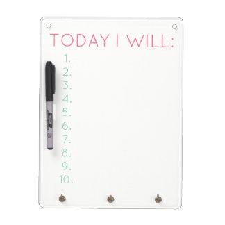 Vandaag zal ik: Dagelijkse Productiviteit & Whiteboards