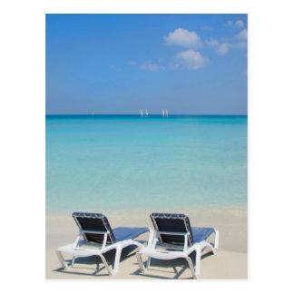 Varadero, Cuba. Zand en Ligstoelen Briefkaart