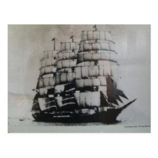 Varend schip Peking op zee Briefkaart