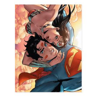 Variant van de Dekking van de superman/Wonder van Briefkaart