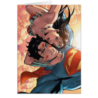 Variant van de Dekking van de superman/Wonder van Kaart