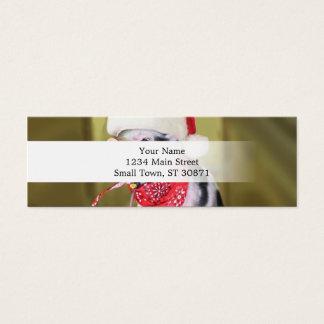 Varken de Kerstman - Kerstmisvarken - biggetje Mini Visitekaartjes