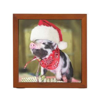 Varken de Kerstman - Kerstmisvarken - biggetje Pennenhouder