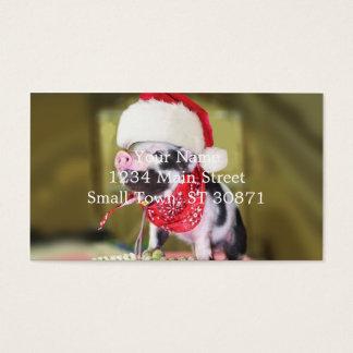 Varken de Kerstman - Kerstmisvarken - biggetje Visitekaartjes