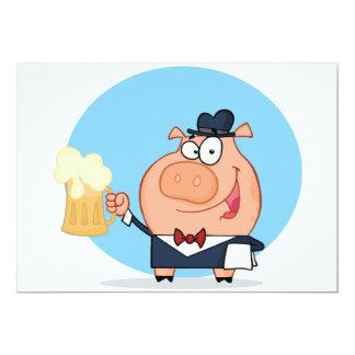 Varken met Pint Uitnodigingen van het Bier