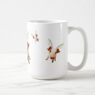 Varkens die vliegen - geloof koffiemok