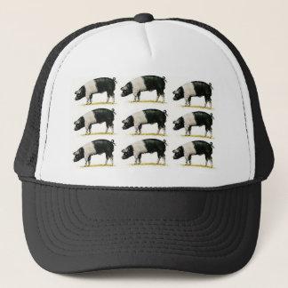varkens in een rij trucker pet