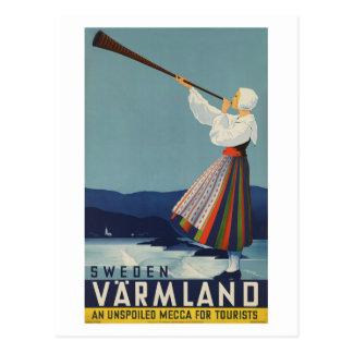 Varmland Zweden - Vintage Reis Briefkaart