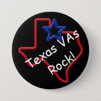 "VAs van Texas Rots 3"" Knoop Ronde Button 7,6 Cm"