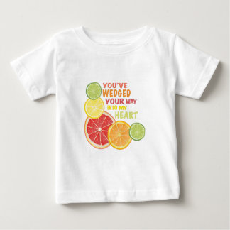 Vastgeklemd fruit baby t shirts