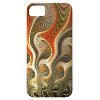 Vastgestelde Phasers om Abstracte Oranje Vlammen Barely There iPhone 5 Hoesje