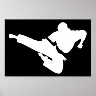vechtsporten silhouetten poster