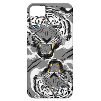 Vector blauw-Eyed Tijger Barely There iPhone 5 Hoesje
