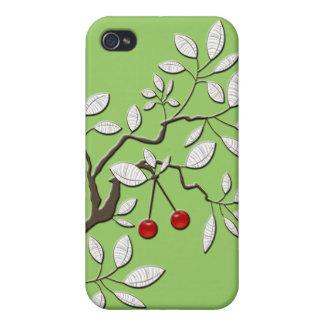 Vector Boom met Kersen - iPhone 4 Cases
