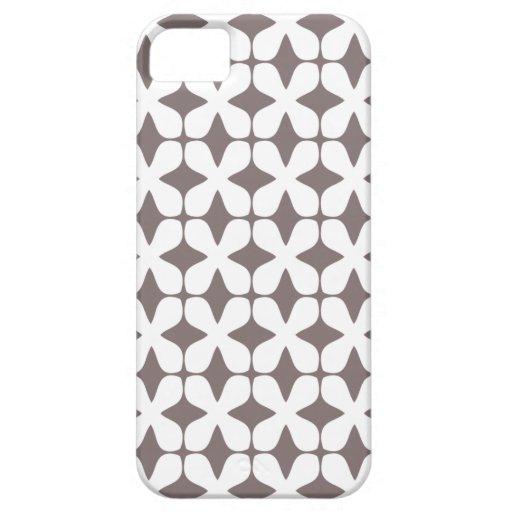 Vector Bruine iPhone 5 van het Drijfhout van het P iPhone 5 Cases