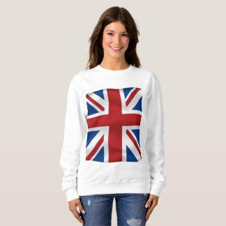 Vector Golvende Britse vlag Trui