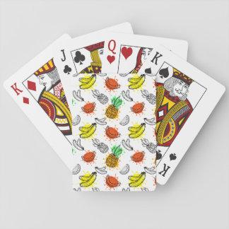 Vector Grafisch Naadloos Patroon Pokerkaarten