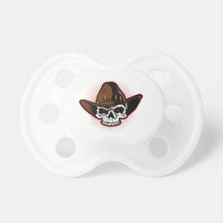 Vector illustratie van de schedel van de Cowboy Fopspeen