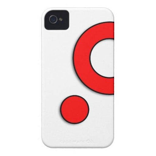 "Vector Kunst ""Cirkels"" (Rood) iPhone 4 Cover"