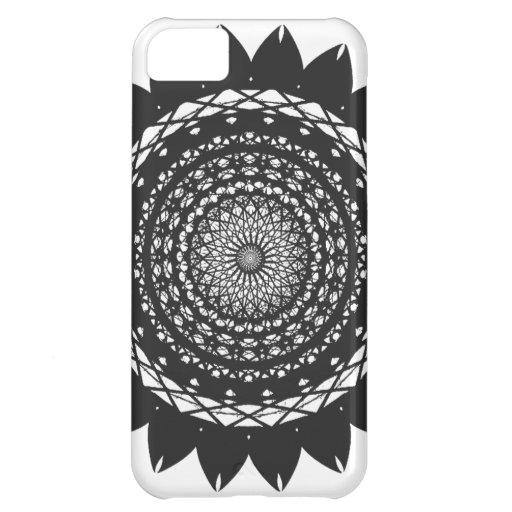 """Vector Kunst """"Zonnebloem"""" (zwarte) iPhone 5C Covers"""