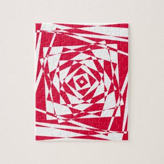 Vector naadloos patroon - abstracte achtergrond puzzel