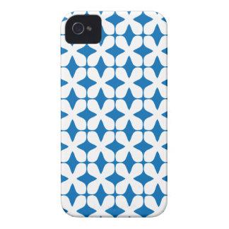 Vector Patroon die Blauw Geval iPhone4S verblinden Case-Mate iPhone 4 Hoesje