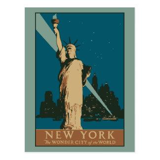 Vector Wonder van New York van het Art deco Stad Briefkaart