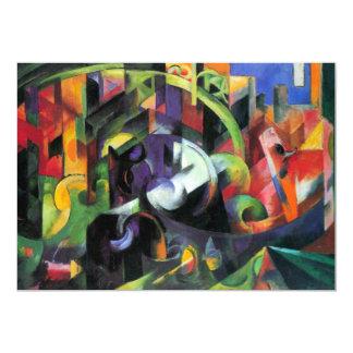 Vee door Franz Marc, Vintage Abstract Fijn Art. 12,7x17,8 Uitnodiging Kaart