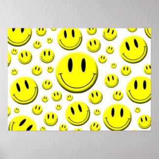 Veel Gezichten Smiley Poster
