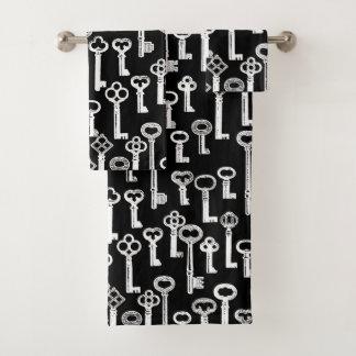 Veel het Oude Patroon van Sleutels Bad Handdoek