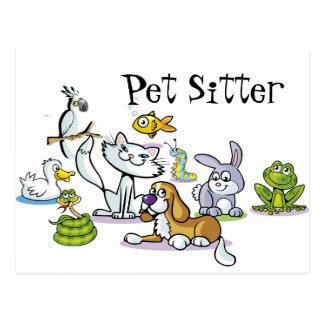 Veel Huisdieren Briefkaart
