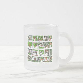 Veel leuke tekeningen van Placide Geurts Delft Matglas Koffiemok