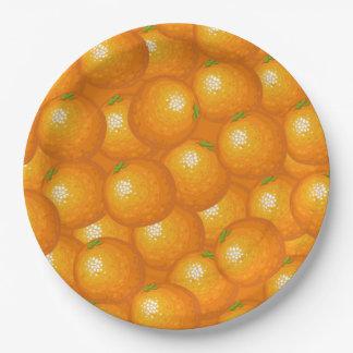 Veel Sinaasappels Papieren Bordje