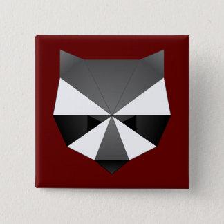 Veelhoekige Wasbeer Vierkante Button 5,1 Cm
