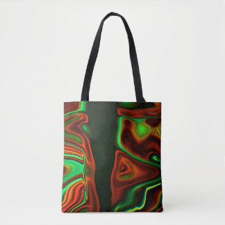 Veelkleurig Abstract Canvas tas