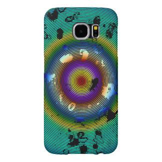 Veelkleurig Omcirkeld Abstract Art. Samsung Galaxy S6 Hoesje
