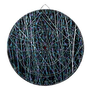 Veelkleurig Riet in Blauw en Paars Dartbord