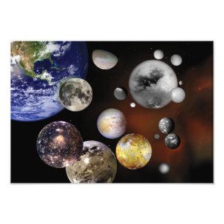 Veelvoudige NASA van de Kunst van Manen Ruimte Footprint