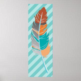 Veer/Strepen - de Kleuren van de Wintertaling en Poster