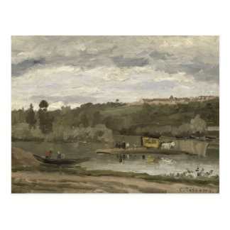 Veerboot in varenne-heilige-Hilaire, 1864 Briefkaart