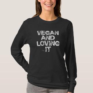 Veganist en het Houden van van het Overhemd T Shirt