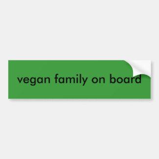 veganist familie aan boord bumpersticker