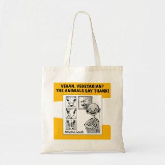 veganist, vegetariër? de dieren zeggen dank! draagtas