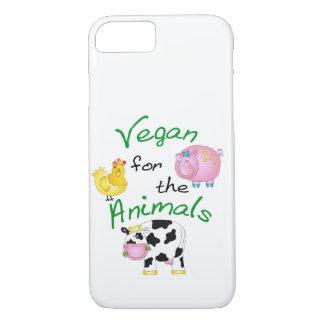 """""""Veganist voor de Dieren"""" met Leuke Varken, Koe & iPhone 7 Hoesje"""