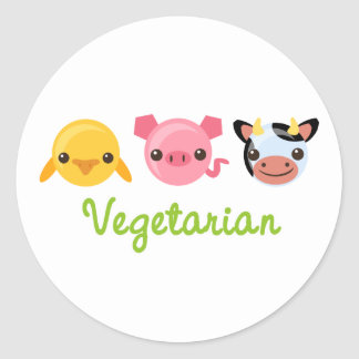 Vegetariër Ronde Sticker